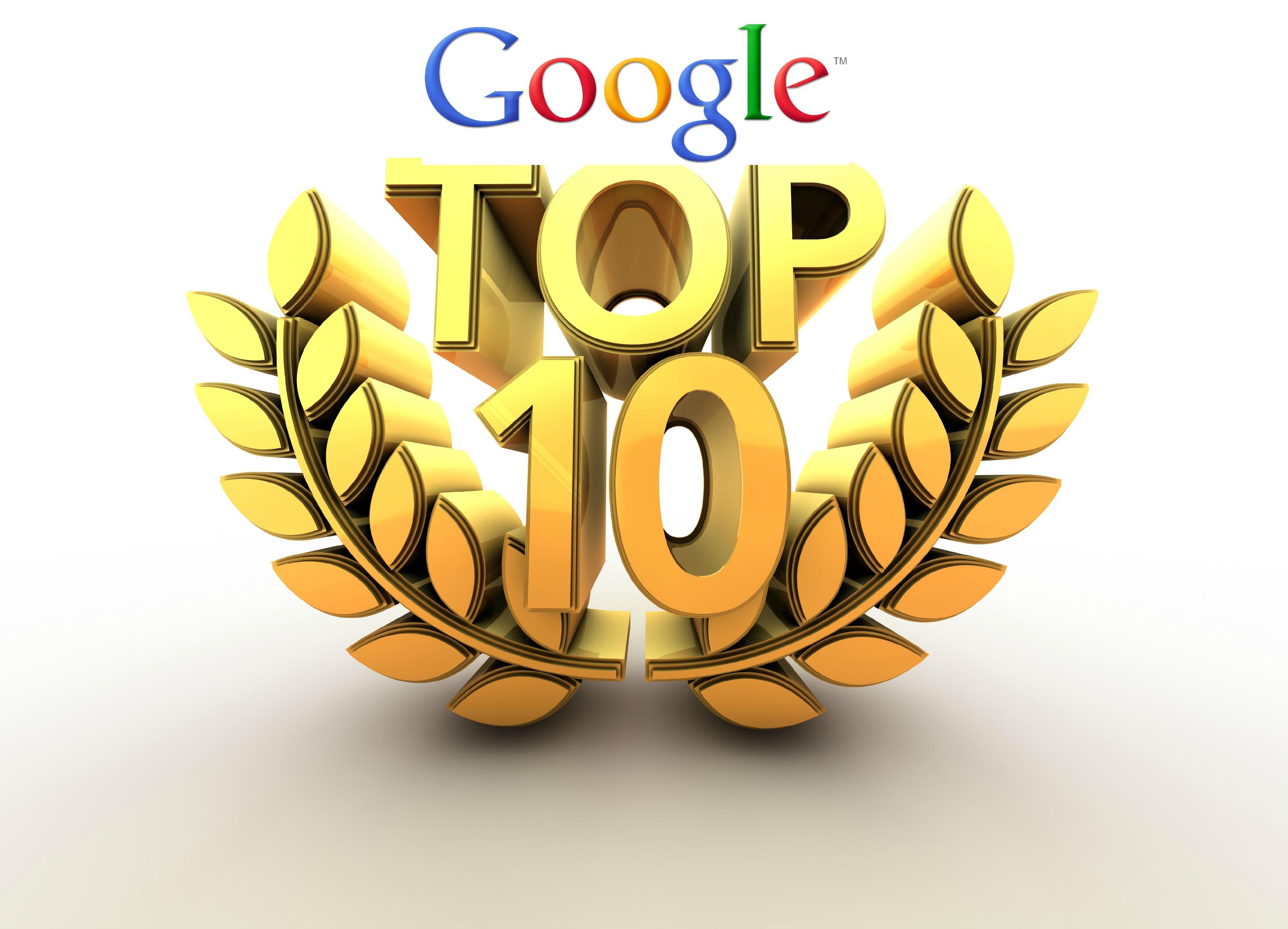 top 10 de google