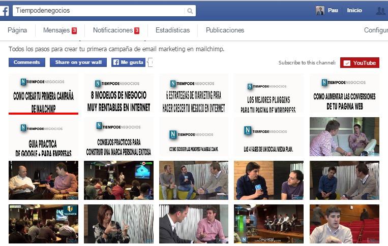 aplicación youtube para facebook