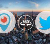 Vídeos 360 en vivo en Periscope y Twitter