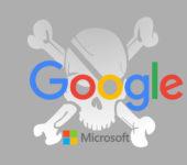 Google y Microsoft intensifican su lucha contra el contenido pirata