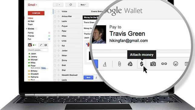 Google gmail dinero