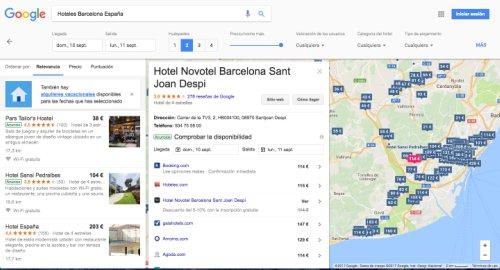 Alojamiento con Google