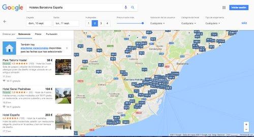 Buscar alojamiento con Google
