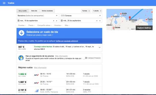 Google Flights consejo precios