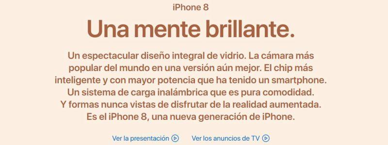 copywriting conversacional Iphone8